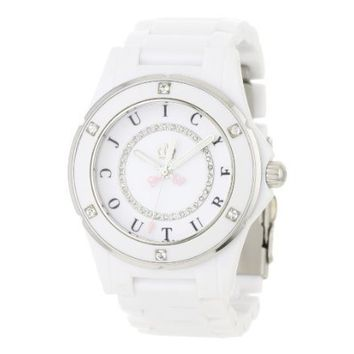 Juicy Couture Women's 1900579 Rich Girl White Ceramic Strap Watch - designer shoes, handbags, jewelry, watches, and fashion accessories | endless.com