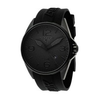 Torgoen Swiss Men's T10302 Black Phantom Dial 3-Hand Analog Rubber Strap Watch - designer shoes, handbags, jewelry, watches, and fashion accessories | endless.com
