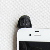 Star Wars Darth Vader Helmets iphone Earphone Plug - Cellphone Headphone Handmade Decorations