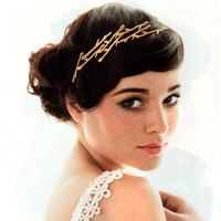 Twig Hair Pins in Golden Bronze as seen in Seventeen Magazine