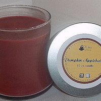 Pumpkin Applebutter 12 oz  candle- October fragrance of the month - 10% off