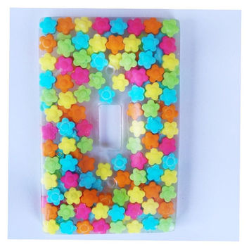 Flower Power Candy Wall Light Switch Cover/Plate