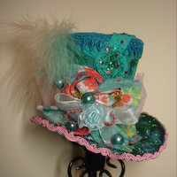 Marie Antoinette inspired Spring Mini Top Hat by rottenzombiefairy