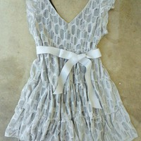A Shade of Gray Lace Party Dress [2304] - $37.00 : Vintage Inspired Clothing &amp; Affordable Fall Frocks, deloom | Modern. Vintage. Crafted.