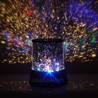 Star Master Colorful Starry Night Cosmos Projector Bed Side Lamp: Home Improvement
