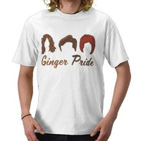 Ginger PRIDE Tee Shirts from Zazzle.com