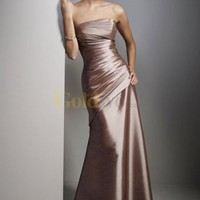 [US$150.99] Gorgeous Strapless Satin Evening Dress