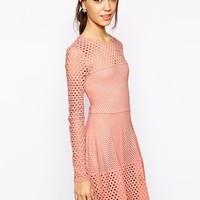 BCBGMAXAZRIA Kyla Dress in Crochet