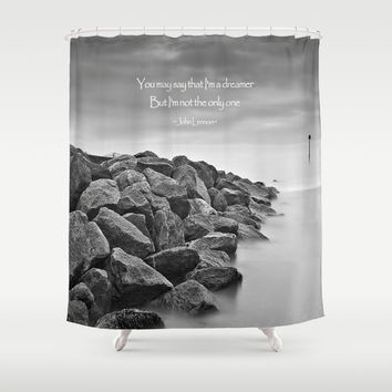 A Dreamer Shower Curtain by Alice Gosling