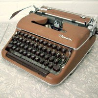 Antique Olympia Typewriter TwoToned Brown by SuzisCornerBoutique
