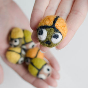 Felt miniature beetles,  Party Favor, Beetles, felt favors, Animal miniature, Funny gift idea, magnets, brooches