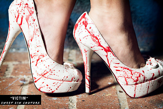Blood Splatter Heels-Great for Halloween
