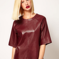 ASOS Leather T-Shirt at asos.com