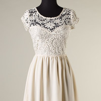 Back in stock!! Always and Forever Dress - Cream