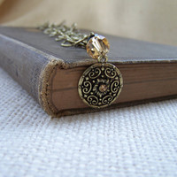 Antique Gold Filigree Pendant