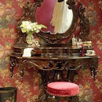 Victorian trading Co. - www.victoriantradingco.com - Chateaux Bordeaux Vanity & Stool