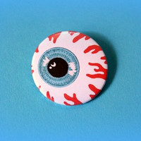 Eyeball - button badge or magnet 1.5 Inch
