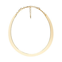 Curved Crescent Choker Necklace by Charlotte Russe - Gold