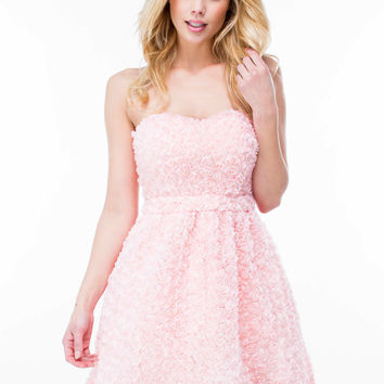 Coming Up Roses Strapless Dress