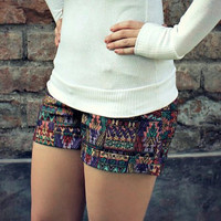 Tribal/Boho Print Shorts