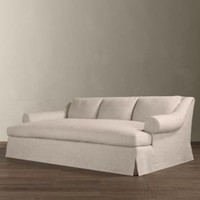 Belgian Roll Arm Slipcovered Daybed Sofa | Sofas | Restoration Hardware