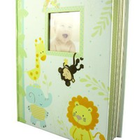 C.R. Gibson Keepsake Memory Book of Baby`s First Year, Jungle Friends $14.99