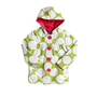 Pink Platinum Toddler Girls (2t-4t) polka dot fully lined, hooded raincoat -lime $16.00