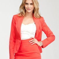 bebe Waist Seam Single Button Jacket $159.00