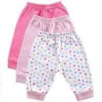 3-Pack Baby Pants, Pink, 6-9 months [Apparel]