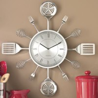 Utensil Wall Clock from Through the Country Door