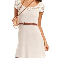 Lace Top Hacci Skater Dress: Charlotte Russe
