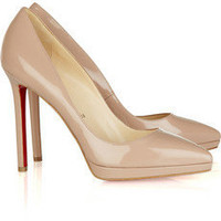 Christian Louboutin pigalle plato 120 patent-leather pumps - &amp;#36;182.00