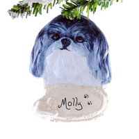 Shih Tzu personalized ornament - Christmas Ornament - personalized Christmas ornament