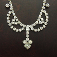 Rhinestone Necklace, Vintage Jewelry