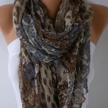 New Year's Fashion Paisley Scarf Valentine's Day Gift Shawl Cowl Scarf Gift Ideas For Her women Fashion Accessories