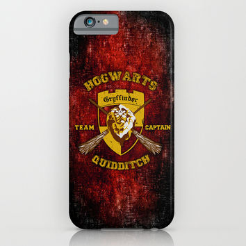Gryffindor lion quidditch team captain apple iPhone 4 4s, 5 5s 5c, 6, iPod & samsung galaxy s4 case