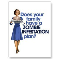 Zombie Infestation Plan Postcards from Zazzle.com