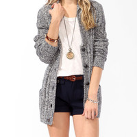 Longline Elbow Patch Cardigan