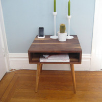 Solid Walnut Side Table by jeremiahcollection on Etsy