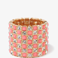 Rhinestoned Stretchy Bracelet