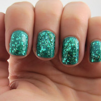 Teal Me...Please - Teal, Prizm Glitter Nail Polish