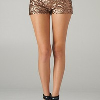 Dark Rose Gold Sequin Shorts