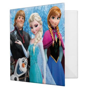 Frozen Group 3 Ring Binders