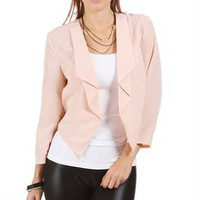 Natural Nude Cropped 3/4 Light Jacket