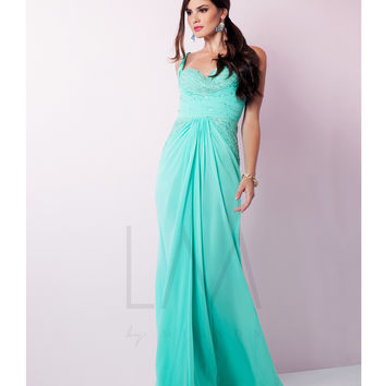 Preorder - LM by Mignon HY1200 Lightly Beaded Bodice Spearmint Gown 2015 Prom Dresses