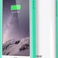 iPhone 6 Battery Case , Trianium Atomic S Portable Charger iPhone 6 Battery Case (4.7 Inches) [White/Tiffany Blue] - 3100mAh MFI Apple Certified External iPhone Charger Protective iPhone 6 Charger Case / iPhone 6 Charging Case Extended Backup Power Bank Ba