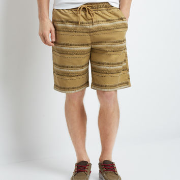 Aeropostale  Brooklyn Calling Tribal Flat-Front Jogger Shorts