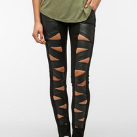 Tripp NYC Faux Leather Z-Cut Jean