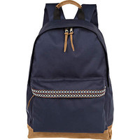 Navy aztec print detail rucksack
