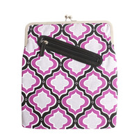 Purple Moroccan iPad Case or Sleeve with Kisslock Frame